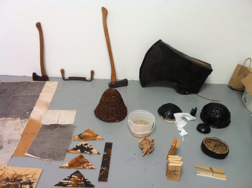 Peter von Tiesenhausen's studio at The Banff Centre, November 2013. Image: Naomi Potter